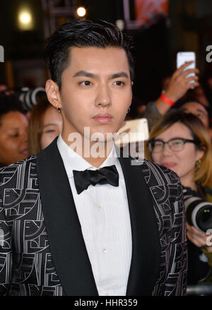 Los Angeles, USA. 19th Jan, 2017.  Actor Kris Wu at the Los Angeles premiere of 'XXX: Return of Xander Cage' at - Stock Photo