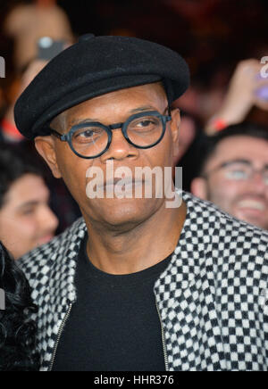 Los Angeles, USA. 19th Jan, 2017.  Actor Samuel L. Jackson at the Los Angeles premiere of 'XXX: Return of Xander - Stockfoto