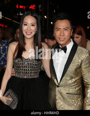 Hollywood CA - JANUARY 19: Donnie Yen, Cissy Wang, At Premiere Of Paramount Pictures' 'xXx: Return Of Xander Cage', - Stock Photo
