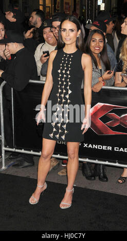 Hollywood, USA. 19th Jan, 2017. Actress Jordana Brewster at the 'xXx - Return of Xander Cage' premiere held at the - Stock Photo