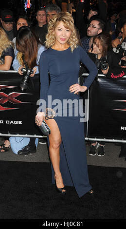 Hollywood, USA. 19th Jan, 2017. Actress Katherine Castro at the 'xXx - Return of Xander Cage' premiere held at the - Stock Photo