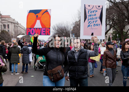 Washington, USA. 21st, January 2017.  Women's March draws hundreds of thousands to Washington, DC, just one day - Stock Photo
