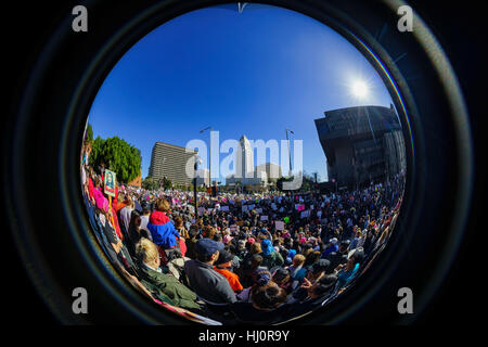 Los Angeles, California, USA. 21st January, 2017. Los Angeles, USA. 21st Jan, 2017. Fisheye view of the special - Stock Photo