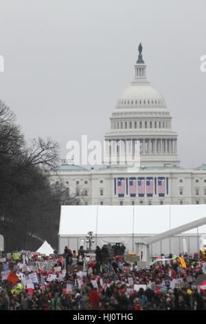Washington, DC, United States. 21st Jan, 2017. Women's March on Washington. Credit: Susan Pease/Alamy Live News - Stock Photo