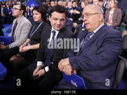 MOSCOW, RUSSIA - JANUARY 22, 2017: Moscow Region Governor Andrei Vorobyev and Lomonosov Moscow State University - Stockfoto
