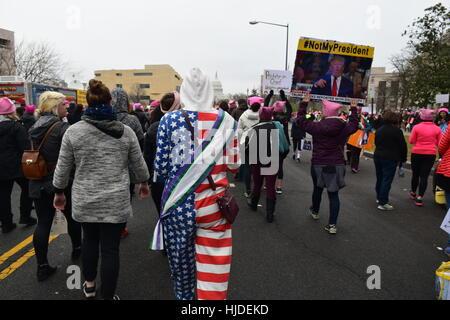 Washington, USA. 21st Jan, 2017. Women's March in Washington. Credit: Cristina Sanchez/Alamy Live News - Stock Photo
