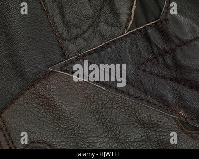 brown leather background close up - Stock Photo