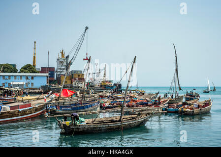 Fish market at the old dhow harbour traders and clients for Fish stocking prices