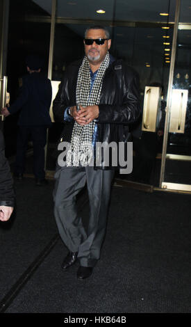 New York City, USA. 26th Jan, 2017. Laurence Fishburne arrives at NBC's 'Today Show' in New York City. Credit: Rw/Media - Stock Photo