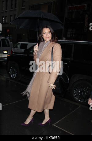 New York City, USA. 26th Jan, 2017. Bellamy Young arrives at NBC's 'Today Show' in New York City. Credit: Rw/Media - Stock Photo