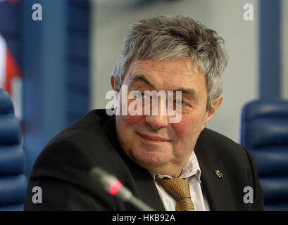 Moscow, Russia. 27th Jan, 2017. Lev Zelenyi (Zelyony), director of the Russian Academy of Sciences (RAS) Space Research - Stock Photo