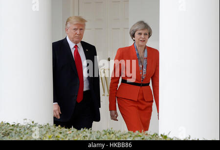 Washington DC, USA. 27th January 2017. United States President Donald Trump and Prime Minister Theresa May of the - Stock Photo