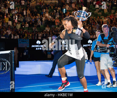 Melbourne, Australia. 29th Jan, 2017. Serena Williams of the USA won her 23rd Grand Slam title at the 2017 Australian - Stock Photo