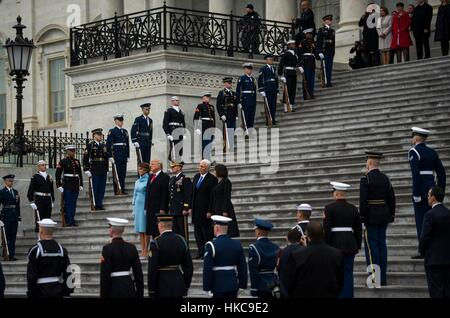 U.S. President Donald Trump, First Lady Melania Trump, Vice President Mike Pence, Second Lady Karen Pence, and U.S. - Stock Photo