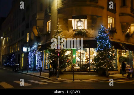 paris france christmas decorations outside people enjoying stock photo royalty free image. Black Bedroom Furniture Sets. Home Design Ideas