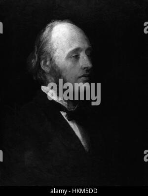 (William) Edward Hartpole Lecky by George Frederic Watts - Stock Photo