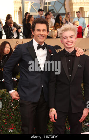 Los Angeles, USA. 29th Jan, 2017. James Marsden and Jack Marsden at The 23rd Annual Screen Actors Guild Awards at - Stock Photo