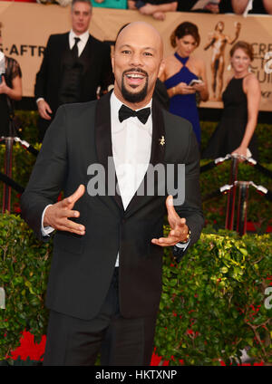 Los Angeles, USA. 29th Jan, 2017. Common arriving at the 23rd Annual Screen Actor Awards 2017 at the Shrine Amphitheater - Stock Photo