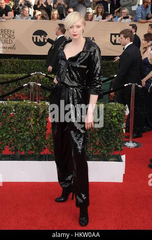 Los Angeles, CA, USA. 29th Jan, 2017. Gwendoline Christie at arrivals for 23rd Annual Screen Actors Guild Awards, - Stock Photo