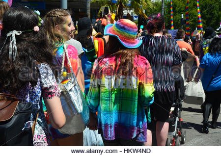 Melbourne, Australia. 29th Jan, 2017. Over 40,000 come together on the streets of Melbourne on January 29, 2017 - Stock Photo