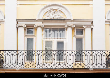 beautiful architecture of the old house with windows - Stock Photo