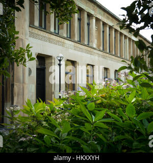 Greek Revival Architecture Terrace In Glasgow - Stock Photo