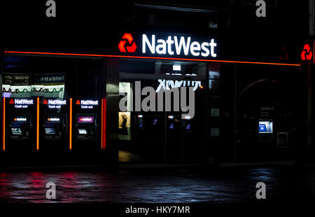 NEWCASTLE, UK - 29 NOVEMBER 2016.  Natwest bank branch in Newcastle Upon Tyne - Stock Photo