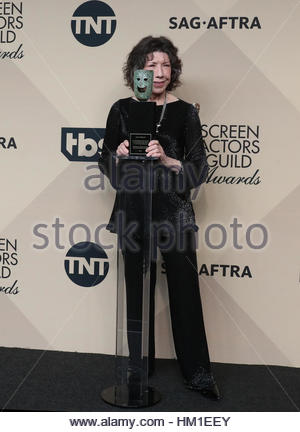 Los Angeles CA - JANUARY 29 Lily Tomlin, At 23rd Annual Screen Actors Guild Awards - Press Room, At Shrine Auditorium - Stock Photo