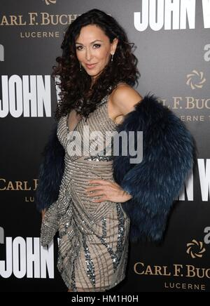 Los Angeles, CA, USA. 30th Jan, 2017. Sofia Milos at arrivals for JOHN WICK: CHAPTER TWO Premiere, Arclight Hollywood, - Stock Photo