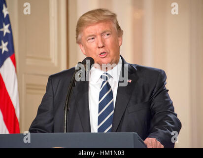 Washington, DC, USA. 31st Jan, 2017. United States President Donald J. Trump announces Judge Neil Gorsuch as his - Stock Photo