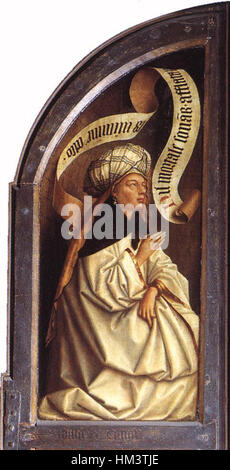 Jan van Eyck - The Ghent Altarpiece - Erythraean Sibyl - WGA07672 - Stock Photo