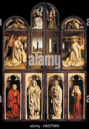 Jan van Eyck - The Ghent Altarpiece (wings closed) - WGA07667 - Stock Photo