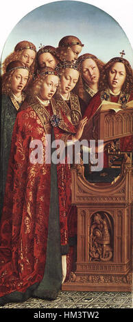 Jan van Eyck - The Ghent Altarpiece - Singing Angels - WGA07640 - Stock Photo