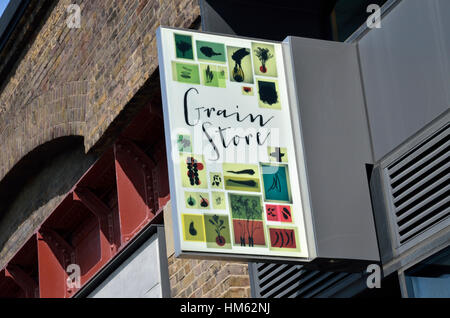 The Grain Store restaurant and bar in Granary Square, King's Cross, London, UK. - Stock Photo