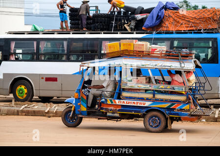 a parked tut tut taxi transport in galle sri lanka. Black Bedroom Furniture Sets. Home Design Ideas