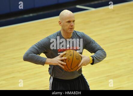 Washington, United States. 31st Jan, 2017. Washington Wizards player development assistant coach David Adkins during - Stock Photo