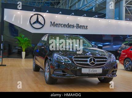 Mercedes benz symbol on the hood stock photo royalty free for Mercedes benz stock symbol