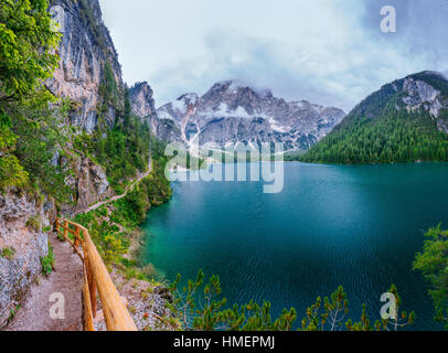 lake between mountains - Stock Photo