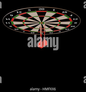 Darts and arrows 3d illustration on black - Stock Photo