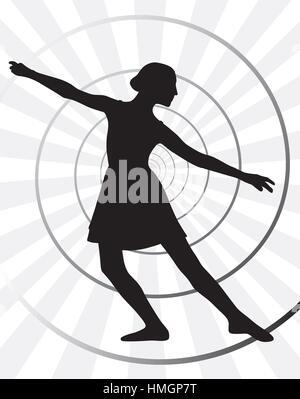 Ballerina motion - Stock Photo