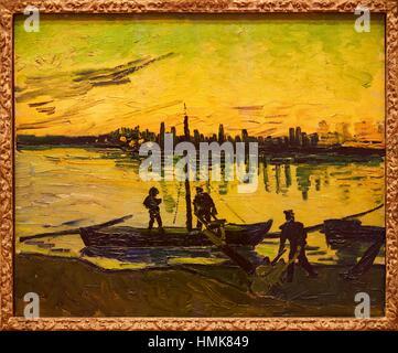 '''The Stevedores in Arles'', 1888, Vincent van Gogh, Thyssen-Bornemisza Museum, Madrid, Spain - Stock Photo