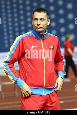 Moscow, Russia. 5th Feb, 2017. Yuri Borzakovsky, head coach of Russia's national athletic team, at the 26th Russian - Stock Photo