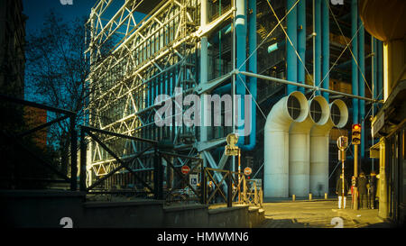 The Centre of Georges Pompidou is one of the most famous museums of the modern art in the world. - Stock Photo