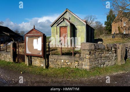 Old methodist tin tabernacle, Thorlby, near Skipton, North Yorkshire, UK - Stock Photo
