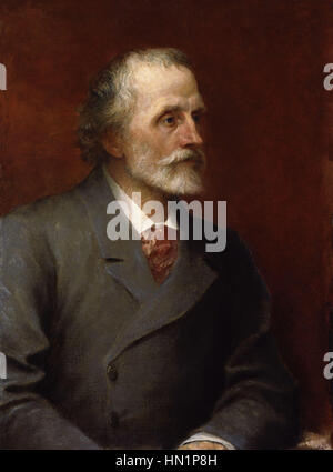 George Meredith by George Frederic Watts - Stock Photo