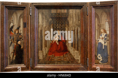 Flügelaltar,  Jan van Eyck, 2009-06-11 06-14 Dresden 198 Gemäldegalerie Alte Meister - Stock Photo
