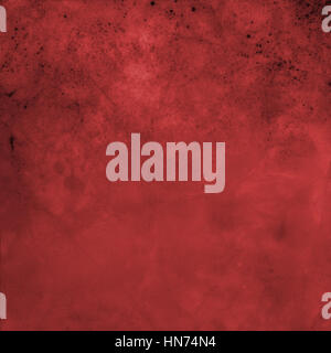 red vintage background design with black grunge texture - Stock Photo