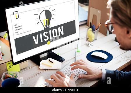 Fresh Ideas Light Bulb Graphic - Stockfoto
