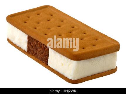 Ice Cream Sandwich(+clipping path) - Stock Photo