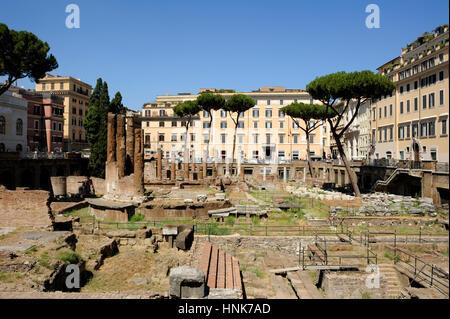 italy, rome, area sacra of largo di torre argentina - Stock Photo